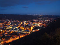 Johnstown Pennsylvania en la noche Foto de archivo libre de regalías