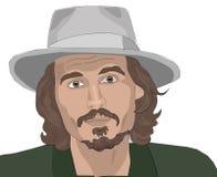 Johny Depp royaltyfri fotografi