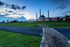 Johor Bahru, Μαλαισία - 10 Οκτωβρίου 2017: Μουσουλμανικό τέμενος του σουλτάνου Iskan στοκ φωτογραφίες