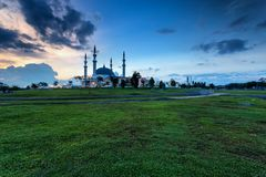 Johor Bahru, Μαλαισία - 10 Οκτωβρίου 2017: Μουσουλμανικό τέμενος του σουλτάνου Iskan στοκ φωτογραφία