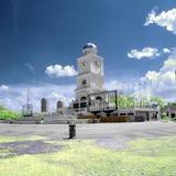 Johor Bahru City, Johor, Malaysia. Johor Bahru City in infrared mode stock photo