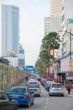 JOHOR BAHRU MALAYSIA - DEC 20. Traffic jam in Johor Bahru city on every Sunday Royalty Free Stock Photography