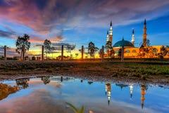JOHOR BAHRU, Malaysia 19 Oktober 2017: Den långa exponeringen Pictur royaltyfria foton