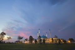 JOHOR BAHRU, Malaysia 19 Oktober 2017: Den långa exponeringen Pictur Arkivfoton