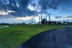 Johor Bahru, Malaysia - 10. Oktober 2017: Moschee von Sultan Iskan Stockfotos
