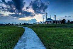 Johor Bahru, Malaysia - Oktober 10 2017: Moské av Sultan Iskan Arkivbild