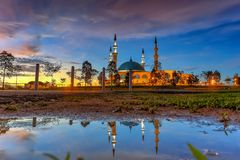JOHOR BAHRU, Maleisië 19 Oktober 2017: De Lange Blootstelling Pictur Stock Afbeeldingen
