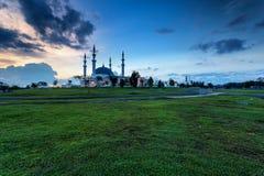 Johor Bahru, Maleisië - Oktober 10 2017: Moskee van Sultan Iskan Stock Fotografie