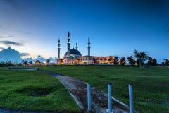 Johor Bahru, Malesia - 10 ottobre 2017: Moschea di Sultan Iskan Fotografia Stock Libera da Diritti