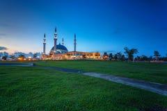 Johor Bahru, Malesia - 10 ottobre 2017: Moschea di Sultan Iskan Immagini Stock Libere da Diritti