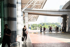 Johor Bahru sentral drevstation Arkivfoton
