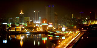 Johor Bahru Skyline Royalty Free Stock Photography