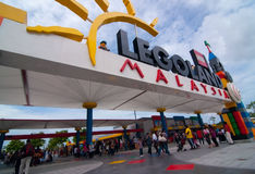 JOHOR - 14 NOVEMBRE : Entrée principale chez Legoland Malaisie le 14 novembre 2012 dans Johor Malaisie Image libre de droits