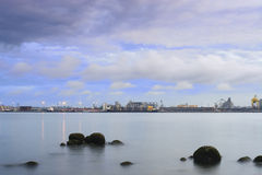 Johor Straits in Early Morning Royalty Free Stock Photography