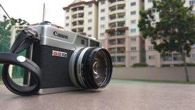 JOHORE, MALAYSIA - 20. Januar 2017 Entfernungsmesser-Film-Kamera Canons Canonet G3 Lizenzfreies Stockbild