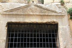 Johoshaphat grotta, Jerusalem, Israel Fotografering för Bildbyråer