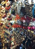 Joia bonita Jhumkas & x28; Earrings& x29; foto de stock