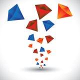 A joia colorida do diamante apedreja o gráfico de vetor do fundo Fotografia de Stock