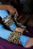 Joia de Ghungroo- A do dançarino clássico Imagem de Stock