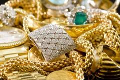 Joia do ouro Fotos de Stock Royalty Free