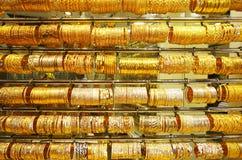 Joia do ouro no ouro Souk de Dubai Imagem de Stock