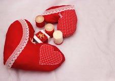 Joia feito a mão no dia do ` s do Valentim ilustração stock