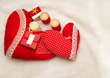 Joia feito a mão no dia do ` s do Valentim Fotografia de Stock