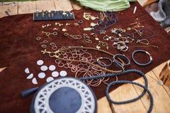 Joia medieval feita de materiais diferentes imagens de stock royalty free