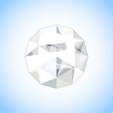 Joia realística do diamante dada forma Ilustração da gema do vetor Foto de Stock