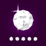 Joia realística do diamante Ilustração da gema do vetor Foto de Stock