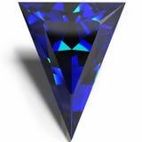 Joia triangular azul Fotografia de Stock