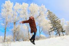 Joie d'hiver Photo libre de droits