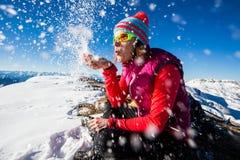 Joie d'hiver Photos libres de droits