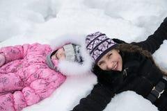 Joie d'hiver Images libres de droits