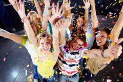 Joie de confettis Images libres de droits