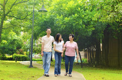 Joie de famille Photo libre de droits