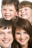 Joie de famille Photographie stock libre de droits