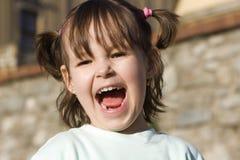 Joie de fillette Image libre de droits
