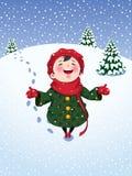 Joie de l'hiver Photos stock