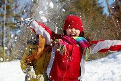 Joie de l'hiver Photos libres de droits