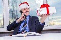 Joie des cadeaux de Noël Images stock