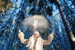 Joie des hivers Photo libre de droits