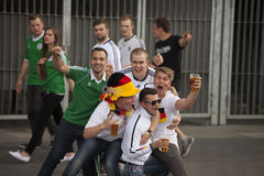 Joie du football Image libre de droits