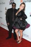 Joie Enriquez, gilets de cuir de Rodney Photo stock