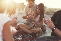 Joie et liberté d'été Photographie stock libre de droits