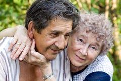 Joie réelle des personnes âgées Photo stock