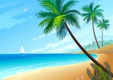 Joie sur la plage Images libres de droits