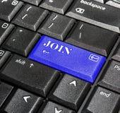 Joignez le bouton. Image libre de droits