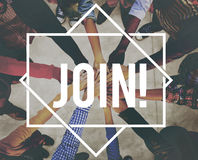 Joignez le concept de s'inscrire de recrutement d'adhésion illustration stock