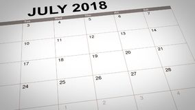 Joignez le gymnase écrit sur le calendrier illustration stock